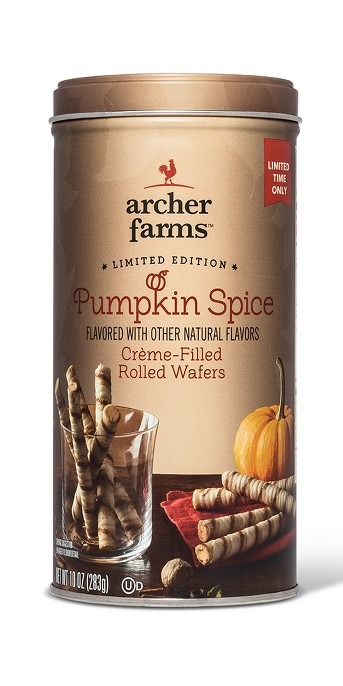 Pumpkin Spice Creme -Filled Rolled Wafers - 10oz - Archer Farms™