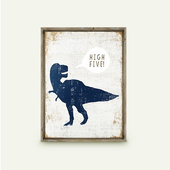 High Five Dinosaur Framed Art - Pillowfort™