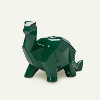 Dinosaur Decorative Coin Bank Green - Pillowfort™