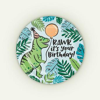 10ct Dino Printed Paper Plates - Spritz™