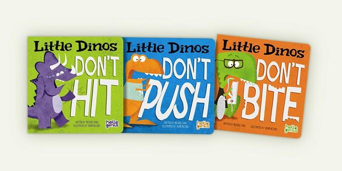 Little Dinos Don't Bite -  (Hello Genius) by Michael Dahl (Hardcover), Little Dinos Don't Push -  (Hello Genius) by Michael Dahl (Hardcover), Little Dinos Don't Hit -  (Hello Genius) by Michael Dahl (Hardcover)