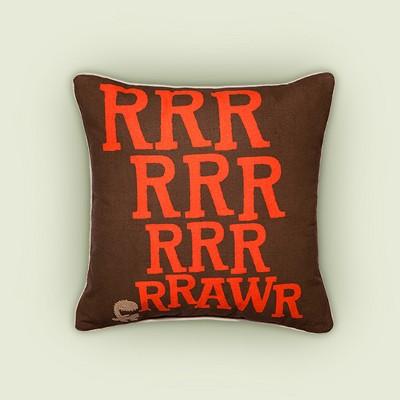 """Dinosaur Rawr Throw Pillow - 18""""x18"""" - Brown - Pillowfort™"""