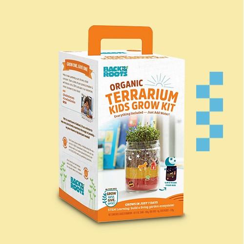 Back to the Roots Organic Terrarium Kids' Grow Kit, Back to the Roots Organic Lavender Windowsill Planter