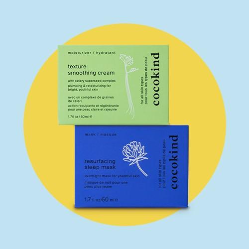 Cocokind Texture Smoothing Cream - 1.7 fl oz, Cocokind Resurfacing Sleep Mask - 1.7oz
