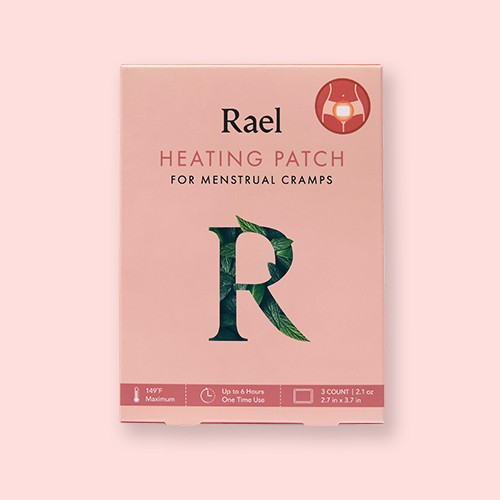 Rael Heating Patch for Menstrual Cramps - 3ct