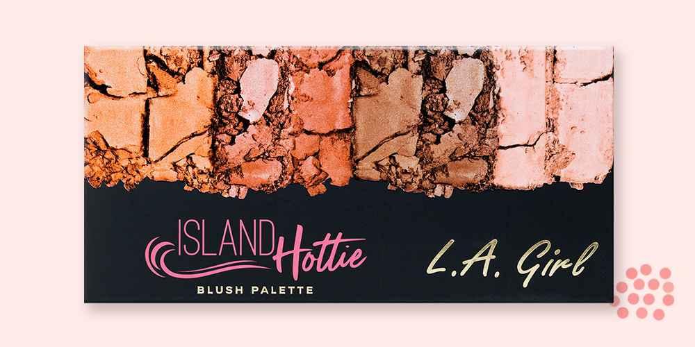 L.A. Girl Island Hottie Blush Palette - 4.6oz