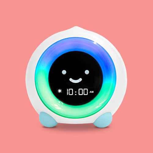 MELLA Ready To Rise Children's Sleep Trainer Night Light and Sleep Sounds Machine Alarm Clock Blue Arctic - LittleHippo