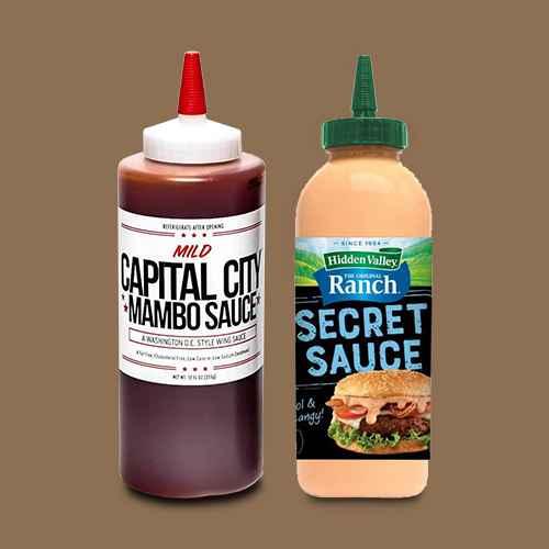 Capital City Mild Mambo Sauce - 12oz, Hidden Valley Ranch Secret Sauce Original - 12oz
