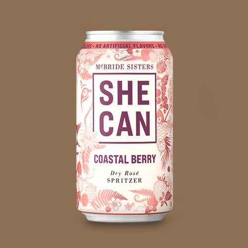 SHE CAN Coastal Berry Dry Rosé Spritzer - 375ml Can, SHE CAN Island Citrus Dry Rosé Spritzer - 375ml Can, Underwood Rosé Bubbles Wine - 375ml Can, House Wine Rosé Bubbles Wine - 375ml Can