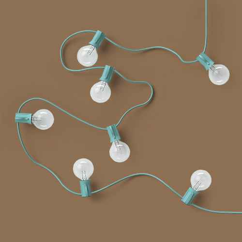 20ct Incandescent Outdoor String Lights G40 Clear Bulbs - Mint Green Wire - Room Essentials™