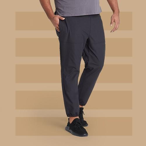 Men's Utility Jogger Pants - All in Motion™ Black L