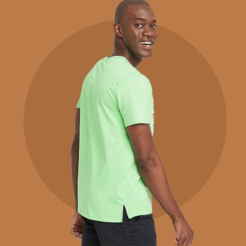 Men's Big & Tall Short Sleeve Performance T-Shirt - All in Motion™ Mint XXXL