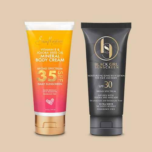 SheaMoisture Vitamin E & Jojoba Oil Mineral Sunscreen - SPF 35 - 6 fl oz, Black Girl Sunscreen Broad Spectrum - SPF 30 - 3 fl oz