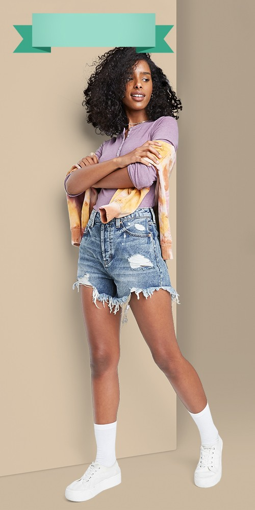 Women's High-Rise Frayed Hem Jean Shorts - Wild Fable™ Medium Wash 4