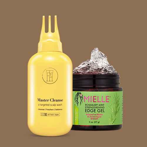 TPH by TARAJI Master Cleanse Scalp Treatment Wash - 8 fl oz, Mielle Rosemary Mint Strengthening Edge Gel - 2oz