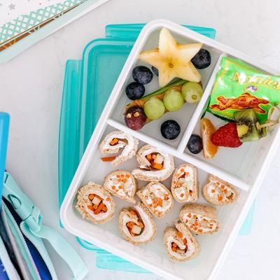 Yum! Yummy! Bento Box White/Teal - Cat & Jack™