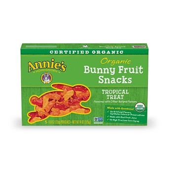 Annie's Homegrown Organic Bunny Fruit Tropical Treat Fruit Snacks - 5ct