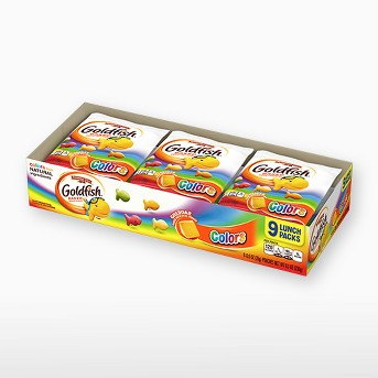 Pepperidge Farm® Goldfish® Colors Cheddar Crackers, 8.1oz Multipack Tray, 9ct 0.9oz Single-Serve Snack Packs