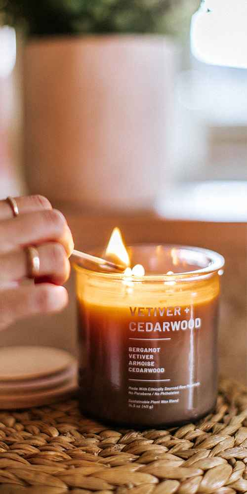 14.5oz Glass Jar Vetiver and Cedarwood Candle - Project 62™
