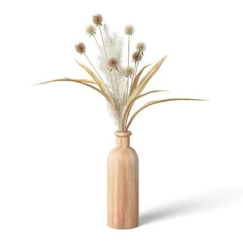 "19"" x 7"" Artificial Sparse Grass Arrangement in Wood Pot - Threshold™"