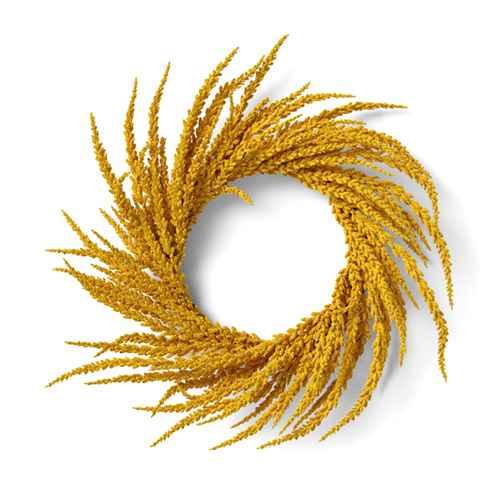 "20"" Artificial Goldenrod Wreath Yellow - Threshold™"