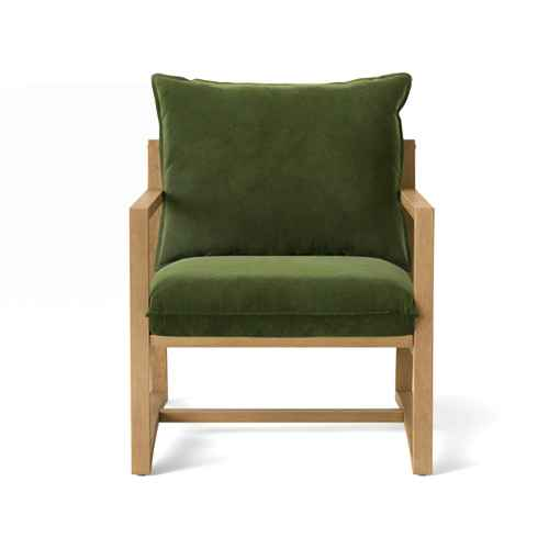 Higgins Sling Arm Chair Olive Velvet - Threshold™