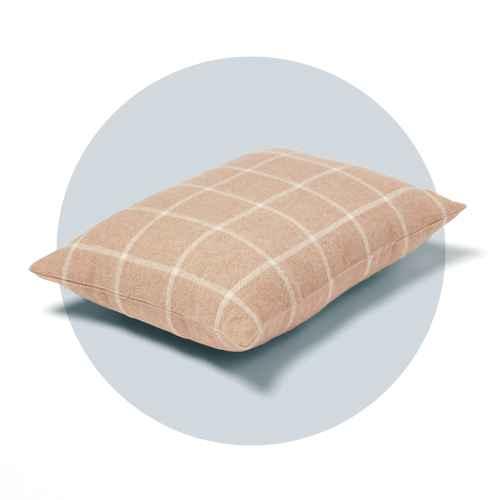 Windowpane Plaid Lumbar Throw Pillow Neutral - Threshold™