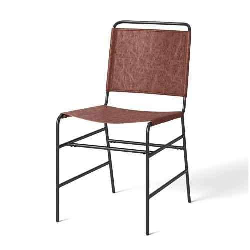 Ward Faux Leather Sling Metal Dining Chair Caramel - Threshold™