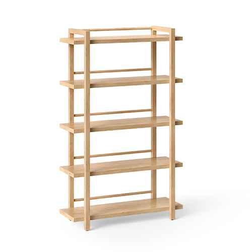 "68"" Wide Wood 5 Shelf Bookcase Natural - Threshold™"