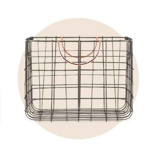 Small Milk Crate with Handles Copper - Threshold™