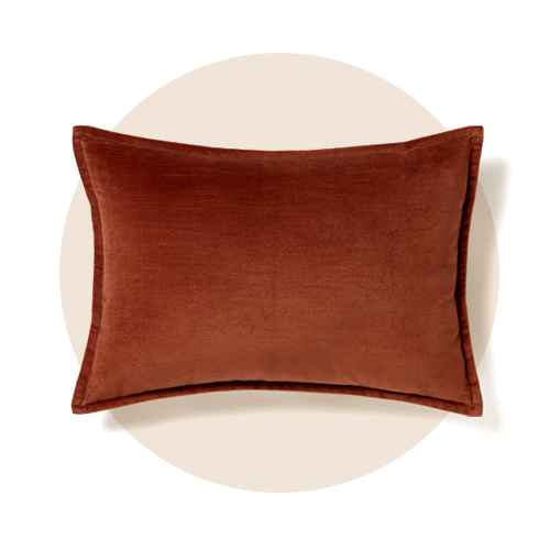 Cotton Velvet Lumbar Throw Pillow Brown - Threshold™