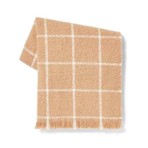 Boucle Windowpane Plaid Throw Blanket Neutral - Threshold™