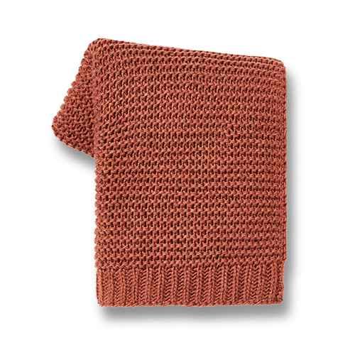 Nep Yarn Knit Throw Blanket Brown - Threshold™