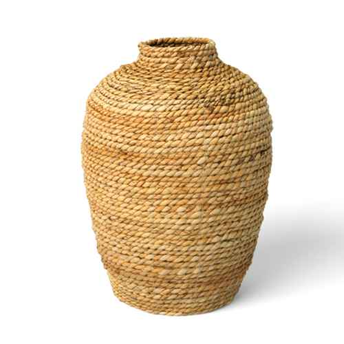 "13.5"" x 10"" Abaca Woven Harvest Vase Brown - Threshold™"