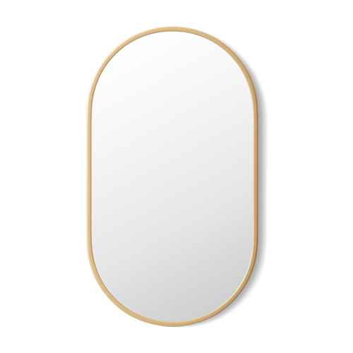 """16""""x28"""" Stamped Metal Mirror Brass - Project 62™"""