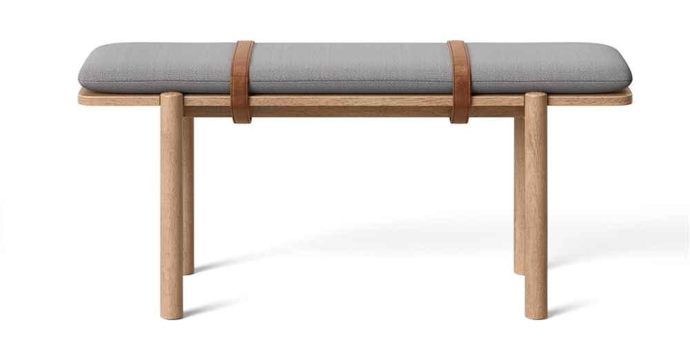 Evertson Modern Strap Bench Gray - Project 62™
