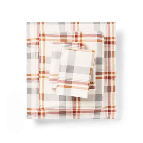 King Fall Flannel Patterned Sheet Set Plaid - Threshold™