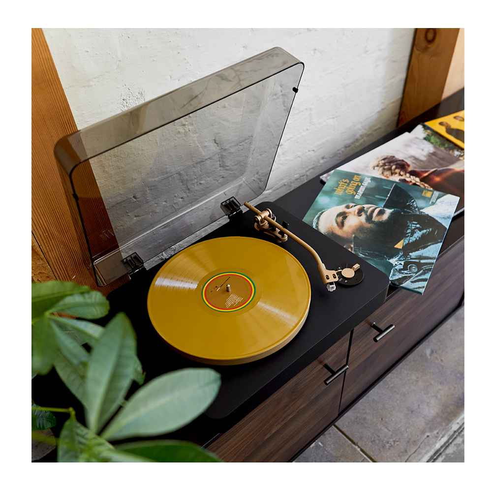 """Deepwell Inset TV Stand for TVs up to 60"""" - Project 62™, heyday™ Turntable - Gray, Bob Marley – Legend (Target Exclusive, Gold Vinyl), Marvin Gaye - What's Going On (Target Exclusive, Vinyl), Taylor Swift - evermore (Target Exclusive, Vinyl), Beatles - Abbey Road Anniversary (Vinyl), Temptations - Number 1's (Target Exclusive, Vinyl)"""