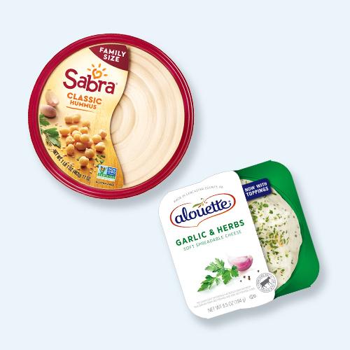 Sabra Classic Hummus - 17oz, Alouette Garlic Herb Spread Cheese 6.5oz