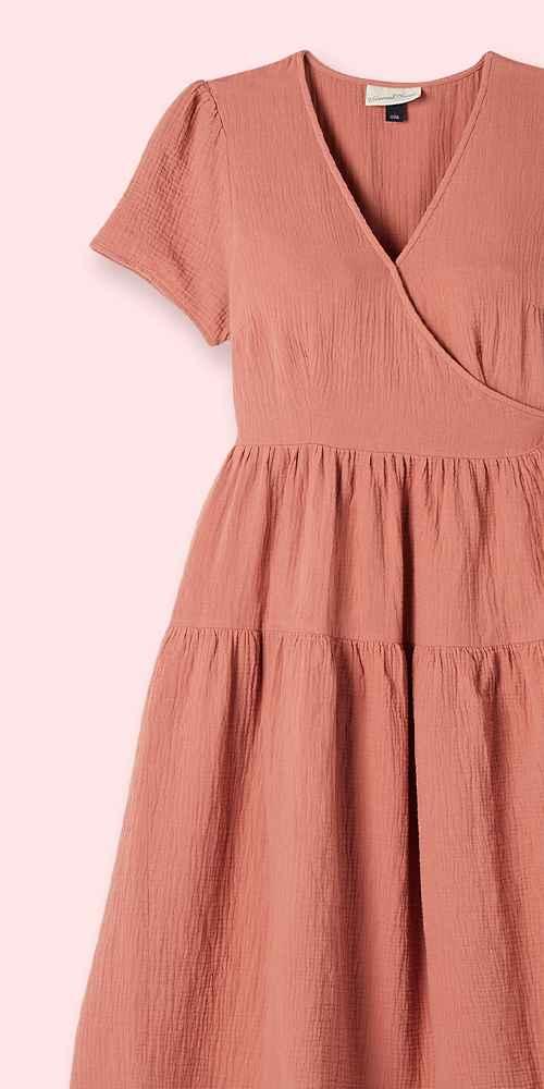 Women's Short Sleeve Wrap Dress - Universal Thread™