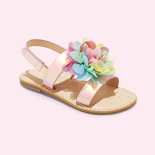 Toddler Girls' Violetta Buckle Footbed Sandals - Cat & Jack™ Blush Pink 9