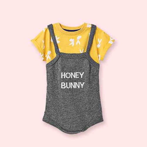 Baby Honey Bunny Sweater Top & Bottom Set - Cat & Jack™ Yellow 6-9M