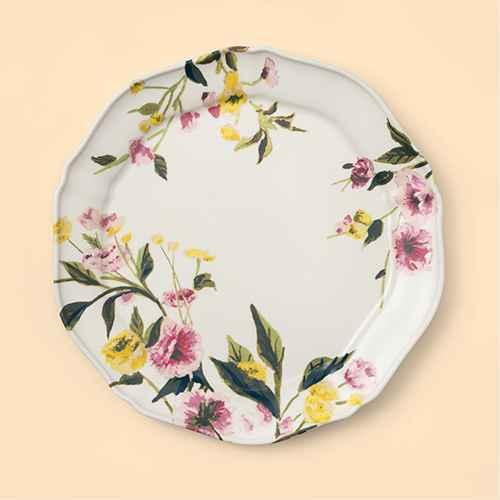 "11"" Melamine Floral Dining Plate - Threshold™"