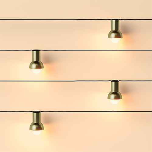 10ct Incandescent G40 Globe String Lights Gold - Project 62™