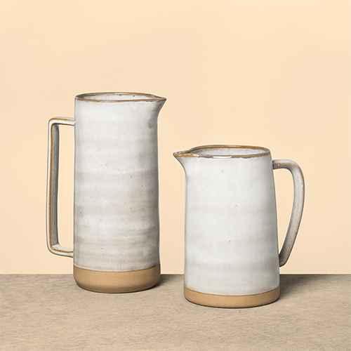 Stoneware Pitcher Gray - Hearth & Hand™ with Magnolia