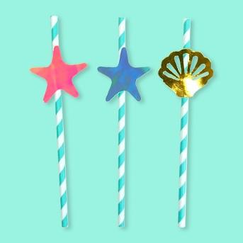 20ct Mermaid Paper Straws - Spritz™