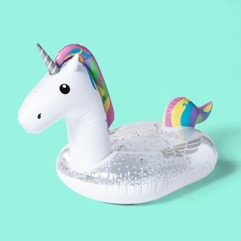 Unicorn Pool Float White - Sun Squad™