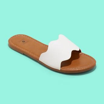 Women's Kate Scalloped Slide Sandals - Shade & Shore™