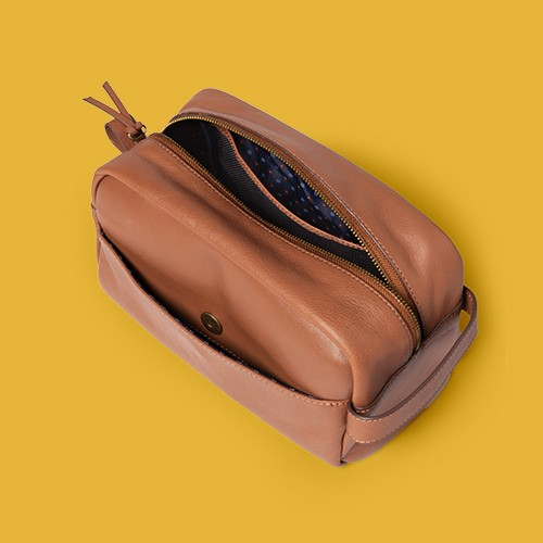 Classic Top Cow Leather Dopp Kit - Goodfellow & Co™
