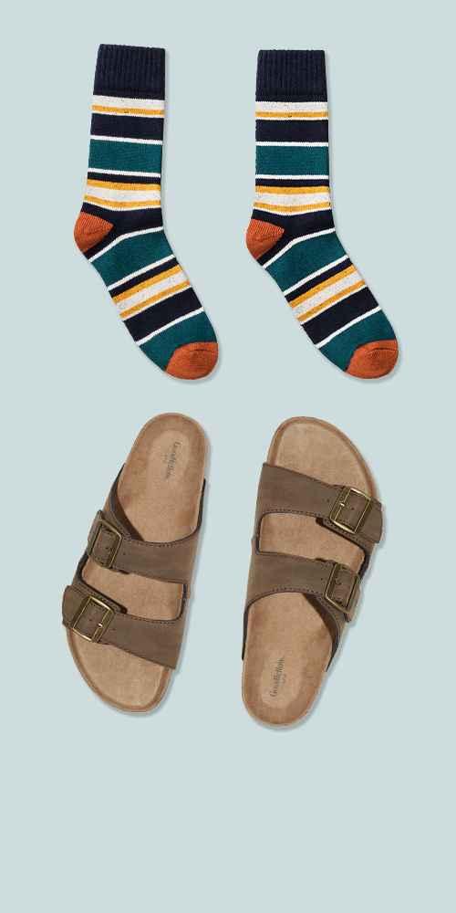 Men's Ashwin Footbed Sandals - Goodfellow & Co™ Brown 10